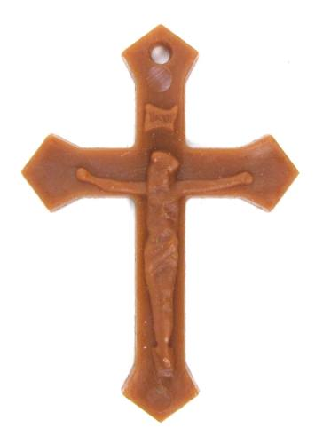 Plastic Crucifixes - 1 Dozen Brown