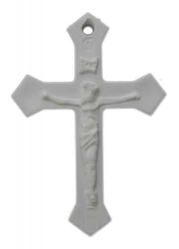 Plastic Crucifixes - 1 Dozen White