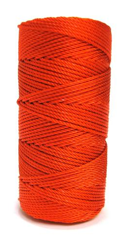 Ultra Orange #36 Knotted Rosary Cord Twine